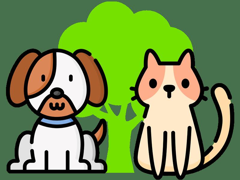 cat and dog illustration